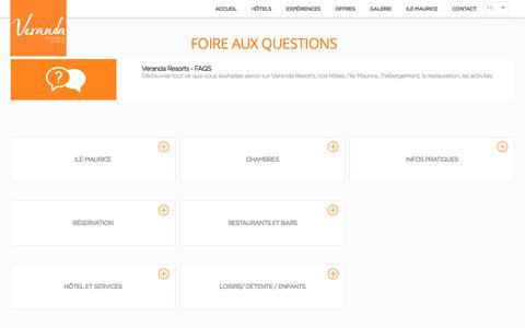 Veranda Resorts Ile Maurice -  FAQ, Questions fréquentes   Veranda