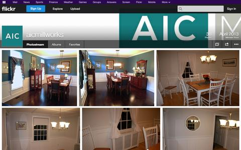 Screenshot of Flickr Page flickr.com - Flickr: aicmillworks' Photostream - captured Oct. 23, 2014