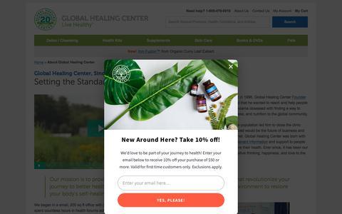 Screenshot of About Page globalhealingcenter.com - About Global Healing Center - captured Aug. 5, 2018