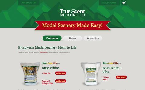 Screenshot of Products Page truescene.com - Model Scenery Products - captured Oct. 9, 2014