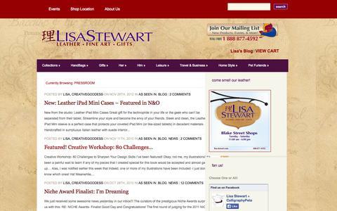 Screenshot of Press Page lisa-stewart.com - PRESSROOM | Lisa Stewart Designs - captured Oct. 1, 2014