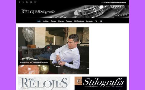 Screenshot of Home Page relojesyplumas.es - Relojes y plumas estilográficas - Relojes y plumas - captured Oct. 7, 2014