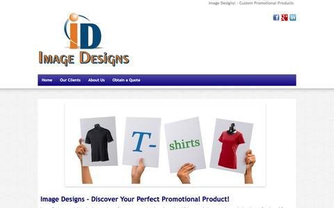 Screenshot of Home Page imagedesigns.us - Custom Promotional Products | Image Designs LLC - captured Nov. 25, 2016