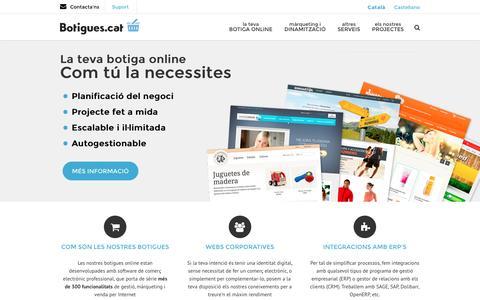 Screenshot of Home Page botigues.cat - Botigues.cat - Comer� electr�nic i botigues online - captured Jan. 15, 2016