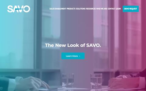 Screenshot of Home Page savogroup.com - SAVO - Sales Enablement Software - captured Nov. 14, 2017