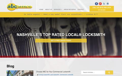 Screenshot of Blog 456lock.com - Blog - Abc Lock & Key Inc - captured Oct. 2, 2018