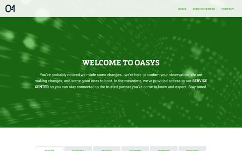 Screenshot of Home Page oasysinc.com - Home - Oasys Inc - captured Oct. 19, 2018