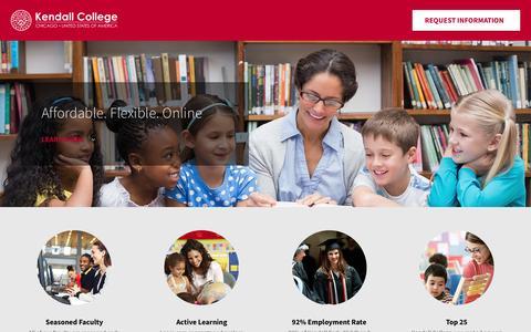 Screenshot of Landing Page kendall.edu - Early Childhood Education - Kendall College - captured Nov. 13, 2016