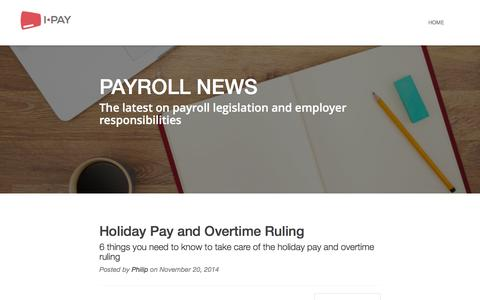 Screenshot of Press Page i-pay.co.uk - I-PAY - Payroll News - captured Feb. 3, 2016