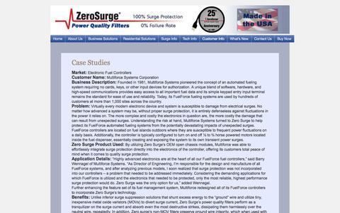 Screenshot of Case Studies Page zerosurge.com - Case Studies | Zero Surge - captured Oct. 27, 2014