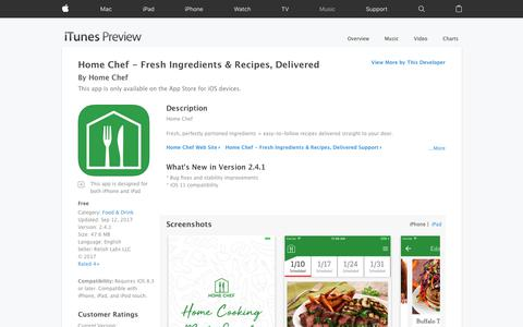 Home Chef - Fresh Ingredients & Recipes, Delivered on the App Store