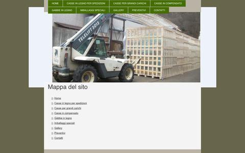 Screenshot of Site Map Page cassedilegno.it - Casse di legno - imballaggi Speciali - captured Oct. 2, 2014