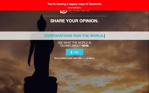 Screenshot of Home Page opinionoto.com - Opininoto | Share your opinion. - captured Jan. 10, 2016