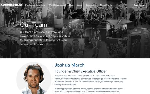 Screenshot of Team Page conversocial.com - Conversocial - Social Customer Service | Our Team - captured April 10, 2018