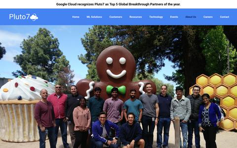 Screenshot of Team Page pluto7.com - Our People | Pluto7 - Google's Preferred Partner in Machine Learning & AI - captured Nov. 5, 2018