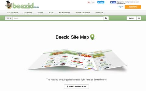 """Screenshot of Site Map Page beezid.com - Beezidâ""""¢ Site Map 