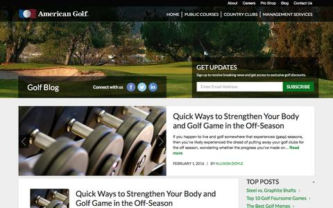 Screenshot of Blog americangolf.com - American Golf Blog - captured Feb. 6, 2016