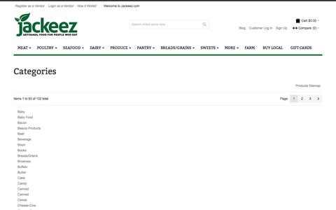 Screenshot of Site Map Page jackeez.com - Site Map - captured Oct. 6, 2014