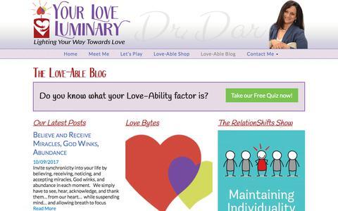 Screenshot of Blog love-luminary.com - Love Luminary Blog ~ Dr. Dar ~ For Love Seekers - captured Oct. 29, 2017