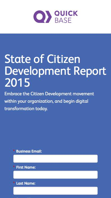 State of Citizen Development Report 2015