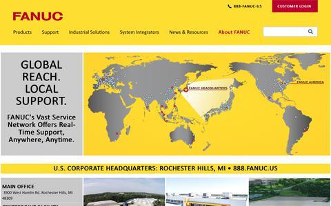 Screenshot of Locations Page fanucamerica.com - Locations | FANUC America - captured Aug. 15, 2019