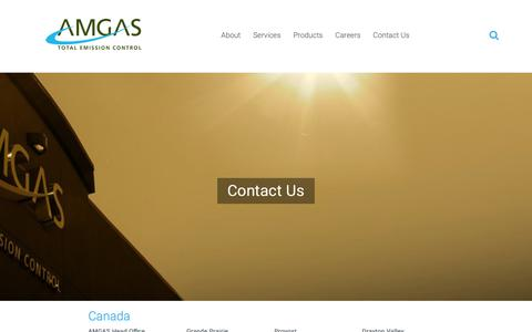 Screenshot of Contact Page am-gas.com - Contact Us   AMGAS - captured Oct. 2, 2018