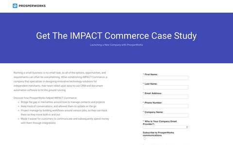 Screenshot of Landing Page prosperworks.com - Prosperworks | Get The Photo Booth International Case Study - captured Feb. 16, 2017