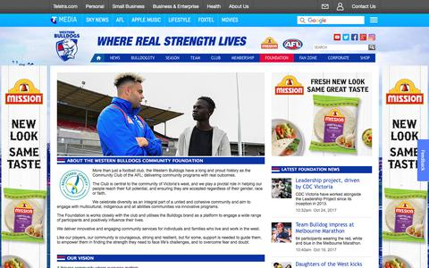 Screenshot of About Page westernbulldogs.com.au - About Us - westernbulldogs.com.au - captured Oct. 30, 2017