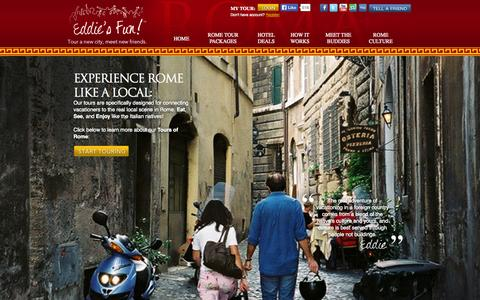Screenshot of Home Page eddiesfun.com - Eddie's Fun | Tours of Rome - captured Sept. 30, 2014