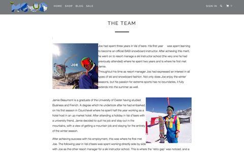Screenshot of Team Page mojosclothing.com captured Jan. 10, 2016