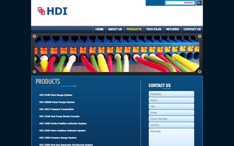 Screenshot of Pricing Page hdigauges.com - HDI | Products - captured Oct. 1, 2014