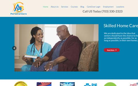 Screenshot of Home Page homepersonalcareva.com - Home Health Care Agency in Manassas, VA - captured Oct. 9, 2017