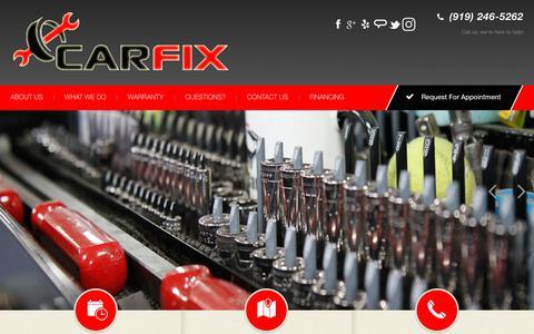 Screenshot of Home Page carfix.us.com - Carfix   Quality Auto Repair & Maintenance   Garner, NC 27529 - captured July 15, 2018