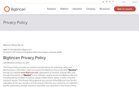 Privacy Policy | Bigtincan