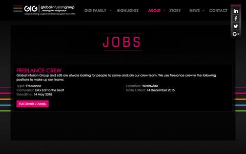 Screenshot of Jobs Page globalinfusiongroup.com - Jobs | Global Infusion Group - captured July 14, 2016