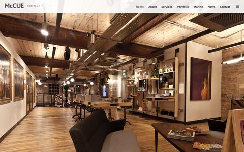 Screenshot of Home Page mccuefit.com - McCue | Crafted Fit – Bespoke Interior Solutions, Belfast, Northern Ireland - captured Feb. 12, 2016