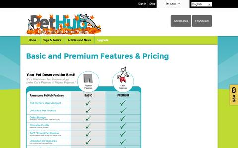 Screenshot of Pricing Page pethub.com - Basic and Premium Features & Pricing | PetHub - captured Nov. 10, 2015
