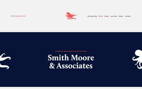 Screenshot of Home Page smithmooreassoc.com - Smith Moore & Associates - captured Oct. 24, 2017