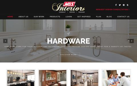 Screenshot of Home Page mbsinteriors.com - MBS Interiors - captured Jan. 25, 2018