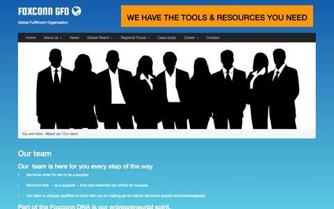 Screenshot of Team Page foxconn-gfo.com - FOXCONN GFO - Our team - captured Nov. 3, 2014