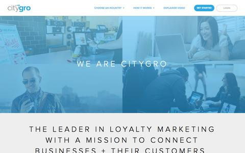 Screenshot of About Page citygro.com - CityGro | Leading the way in Customer Relationships - captured Sept. 13, 2014