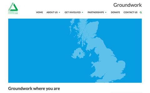 Screenshot of Maps & Directions Page groundwork.org.uk - Groundwork   Find a local contact - captured Feb. 19, 2018