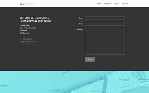 Screenshot of Contact Page leddesign.com.au - Contact Us | LED Design - captured Sept. 26, 2014