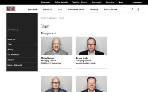 Screenshot of Team Page malighting.com - Team | MA Lighting International GmbH - captured Sept. 22, 2018