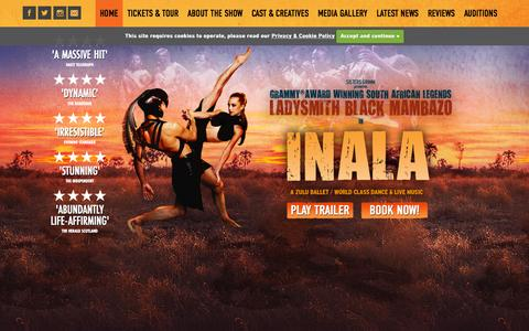 Screenshot of Home Page inala.co.uk - Inala - captured Sept. 26, 2015
