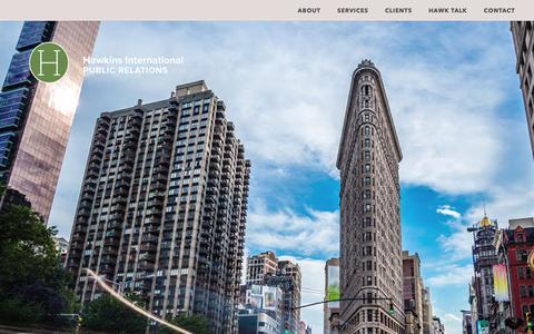 Screenshot of Home Page hawkpr.com - Hawkins International PR | Travel & Lifestyle Public Relations - captured Oct. 4, 2018