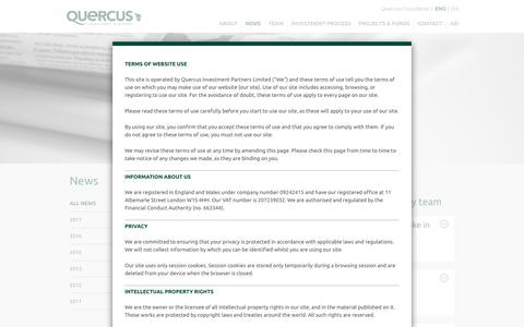 Screenshot of Press Page quercus-partners.com - News - Quercus Investment Partners - captured Sept. 19, 2017
