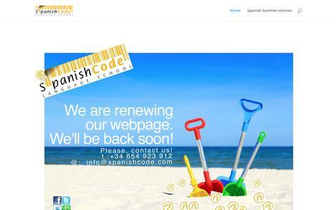 Screenshot of Home Page spanishcode.com - Spanish Code® - Spanish Summer Courses 2018 - captured Oct. 19, 2018