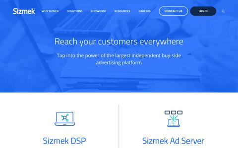 Screenshot of Products Page sizmek.com - Products - captured March 7, 2019