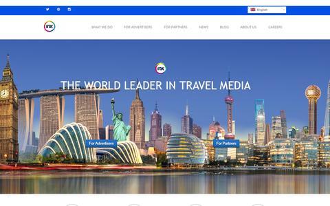 Screenshot of Home Page ink-global.com - Ink: Global Leader in Travel Media - captured Oct. 5, 2015